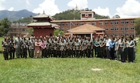 Class photo for Defense Institute for Medical Operations (DIMO) Avian/Pandemic Influenza: Infection Control and Hospital Planning for Pandemic Management course; Kathmandu, Nepal, June 2010.  (US Air Force Photo)