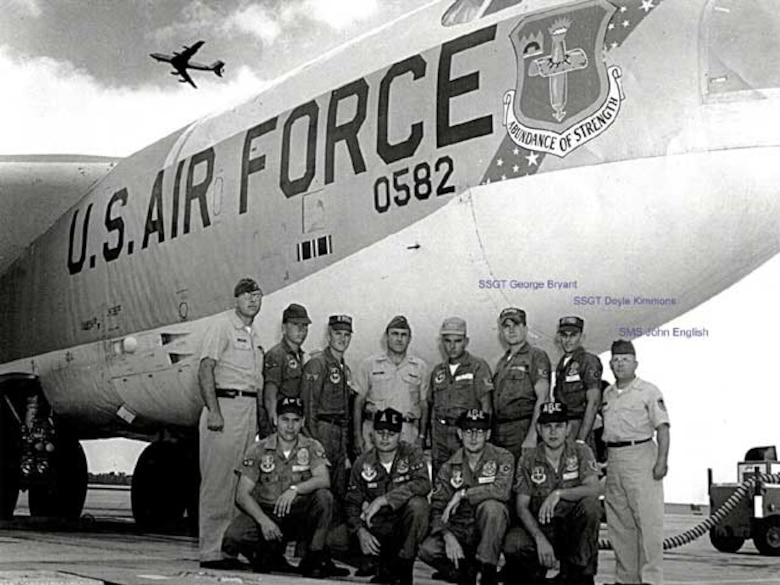FAIRCHILD AIR FORCE BASE, Wash - The 306th Bomb Wing brought their B-52 Stratofortress crews to the 14th Bombing and Navigation Competition held at Fairchild AFB, Wash., in 1965. This competition had a modified format with one crew and aircraft from each of the 44 participating wings (two B-58s, five B-47s and 37 B-52s). This is the last year the B-47s participated. (Courtesy photo)