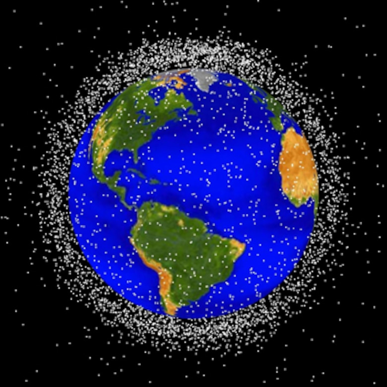 This computer-generated image depicts objects in low Earth orbit that are currently being tracked.  The Space Fence program will revamp the way these space objects – 95 percent of which are orbital debris, not functional satellites – are tracked and catalogued, helping to avoid future space collisions.  (NASA image)