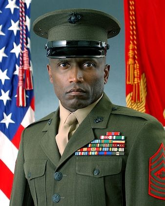Sgt. Maj. John L. Estrada, 15th Sergeant Major of the Marine Corps, served in his position from June 26, 2003, to April 25, 2007. Estrada was the first Marine of Hispanic descent to be promoted to that rank. His personal awards include a Bronze Star, Meritorious Service Medal with three stars, Navy and Marine Corps Commendation Medal and the Joint Service Achievement Medal. Estrada is originally from the nation of Trinidad and Tobago.