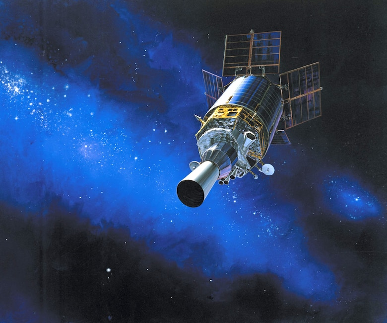 Artist rendering of a Defense Support Program satellite in orbit. (Courtesy photo)