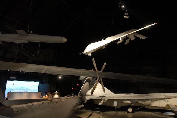 DAYTON, Ohio -- General Atomics RQ-1 Predator in the Cold War Gallery at the National Museum of the United States Air Force. (U.S. Air Force photo)