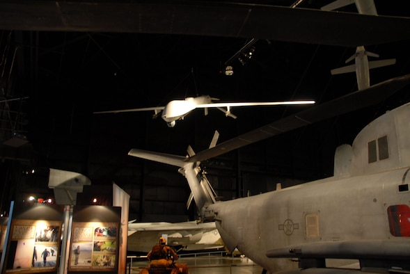 DAYTON, Ohio - General Atomics RQ-1 Predator in the Cold War Gallery at the National Museum of the U.S. Air Force. (U.S. Air Force photo)