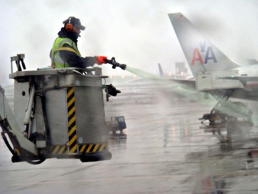 Deicing in cold climates creates a considerable waste stream. Recycling measures such as those implemented at General Mitchell International Airport help reduce contamination.