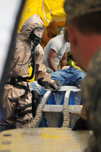 Members of the Massachusetts Air and Army Guard units spent 2 days in September at Camp Edwards, Mass., getting certified as part of the state's Chemical, Biological, Radiological, Nuclear and high-yield Explosive (CBRNE) Enhanced Response Force Package (CERFP)