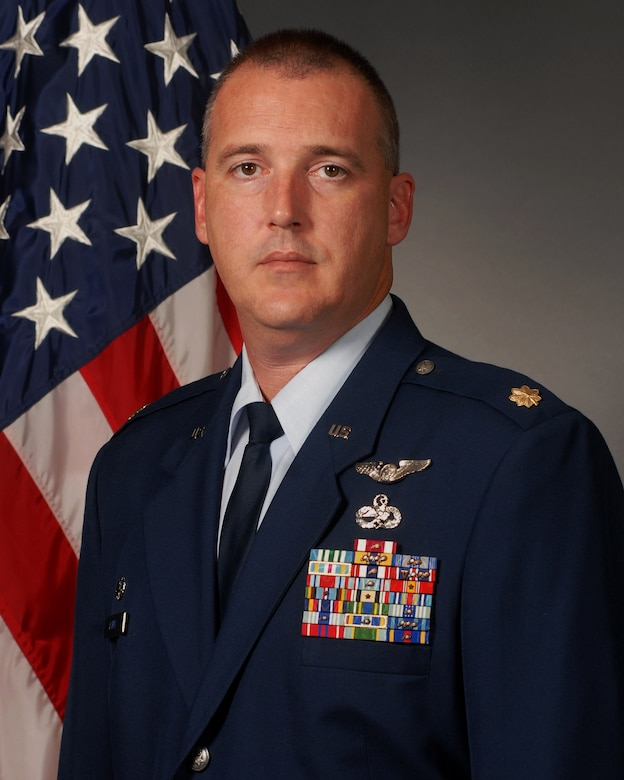 Maj. Justin Barry, 314th Aircraft Maintenance Squadron commander