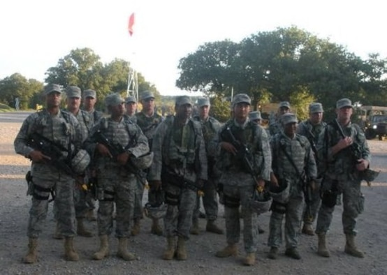 459th Security Forces Squadron Airmen took part in the Patriot Defender training course at Fort Wolters Military Reservation, Texas, Aug. 7-23. They received a mixture of classroom and field training focused on preparing them for deployments to the Area of Responsibilty. (Submitted photo)