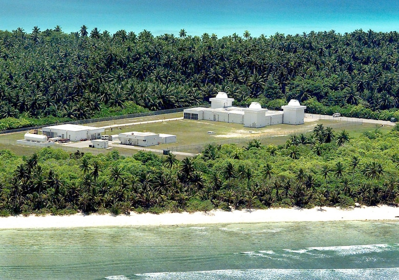 The Ground-Based Electro-Optical Deep Space Surveillance facility at Detachment 2, in Diego Garcia, British Indian OceanTerritory is one of three operational sites worldwide. The facility tracks known manmade deep space objects in orbit around Earth. (U.S. Air Force photo)