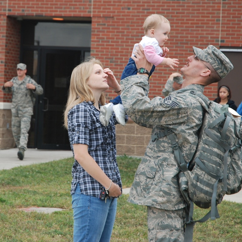 Westover Security Forces Squadron members deployed to Afghanistan Monday. More than a dozen Airmen deployed for approximately 180 days.
