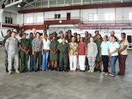 Class photo of Defense Institute for Medical Operations Critical Lifesaving Skills For First Responders course, Georgetown, Guyana, June 2009.  (US Air Force Photo)