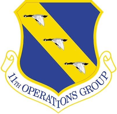 11th Operations Group shield (color), U.S. Air Force graphic