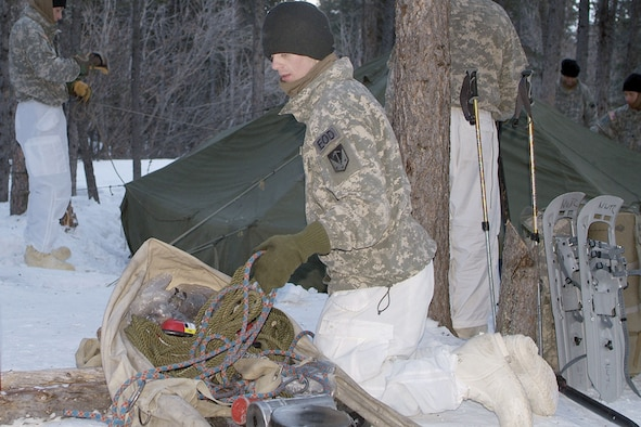 Students unpack their ahkio sled and arctic survival equipment as they erect their 10-man & Battling cold at Armyu0027s northern warfare school u003e Joint Base ...