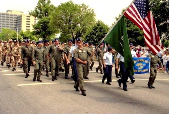 Topeka hosted an Armed Forces Day Parade in the early summer of 1991. The smiles on the faces of the 190th Gulf War veterans tell the story