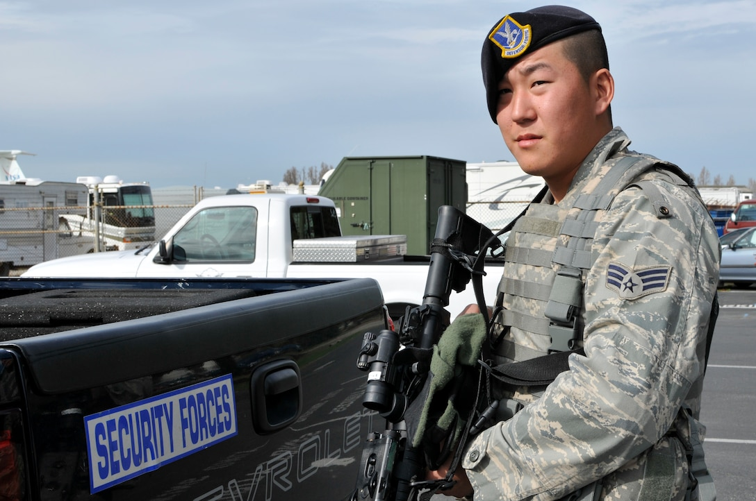 Senior Airman Jason Pak, 129th Security Forces Squadron, is featured as the April 2011 Portrait of a Professional. (Air National Guard photo by Staff Sgt. Kim Ramirez)