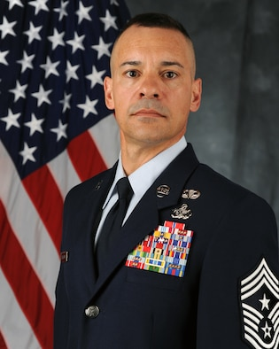 Chief Master Sgt. Mark Marson, 314th Airlift Wing command chief