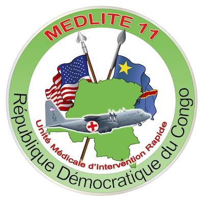 In partnership with the Armed Forces of the Democratic Republic of the Congo (FARDC), U.S. Air Forces Africa, will take part in MEDLITE 11 in Kinshasa, Democratic Republic of the Congo (DRC) from April 24 – May 4. MEDLITE 11 is a joint medical exercise focused on aeromedical evacuation. The exercise will improve the readiness of both countries' medical personnel and will consist of classroom instruction, a mass casualty exercise and aeromedical evacuation training. (U.S. Air Force photo illustration by Master Sgt. Jim Fisher)