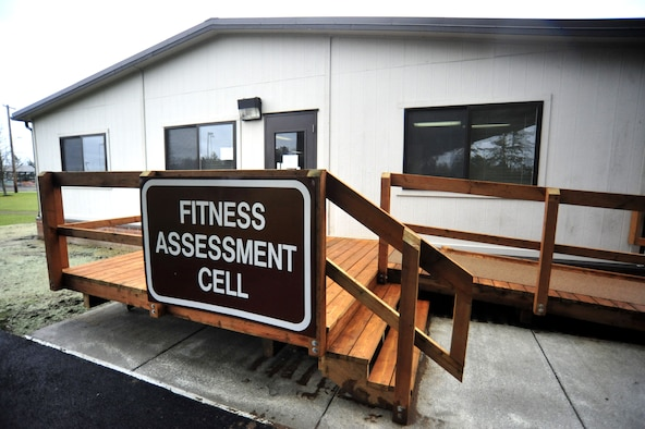 The McChord Field Fitness Assessment Cell, formerly located near building 552 behind the Airman and