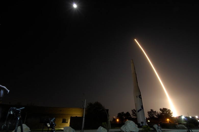 VANDENBERG AIR FORCE BASE, Calif. - Team Vandenberg launched an Atlas V from Space Launch Complex-3 here April 14 at 9:24 p.m. PDT. It was the fourth Atlas V processed at Vandenberg and the 605th overall Atlas mission in U.S. history. (U.S. Air Force photo/Senior Airman Lael Huss)