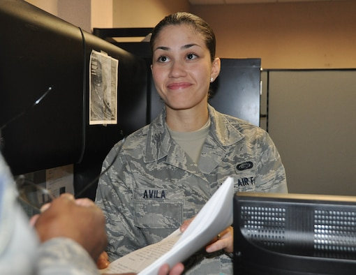 JOINT BASE MCGUIRE-DIX-LAKEHURST, N.J. - Senior Airman Juliana Avila, a Reserve personnel specialist with the 514th Security Force Squadron, received distinguished graduate recognition March 30, upon completion of a six-week course at the Kish Airmen Leadership School, here. (U.S. Air Force photo/Master Sgt. Donna T. Jeffries)