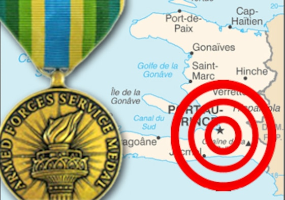 DOD authorize Armed Forces Service Medal for Haiti relief