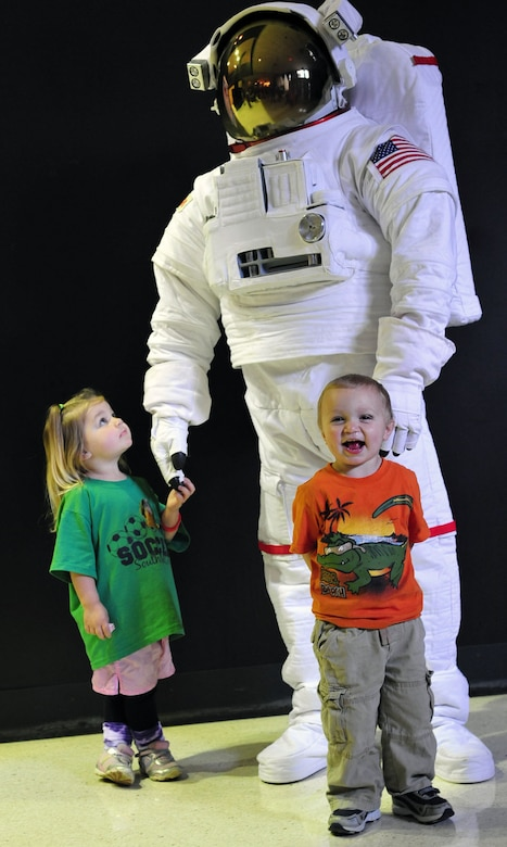 DAYTON, Ohio (04/2011) -- Visitors of all ages enjoyed learning about space during Family Day at the National Museum of the U.S. Air Force. (U.S. Air Force photo)