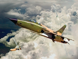 Air Force Art:  F-105 over Vietnam, by Ken Chandler