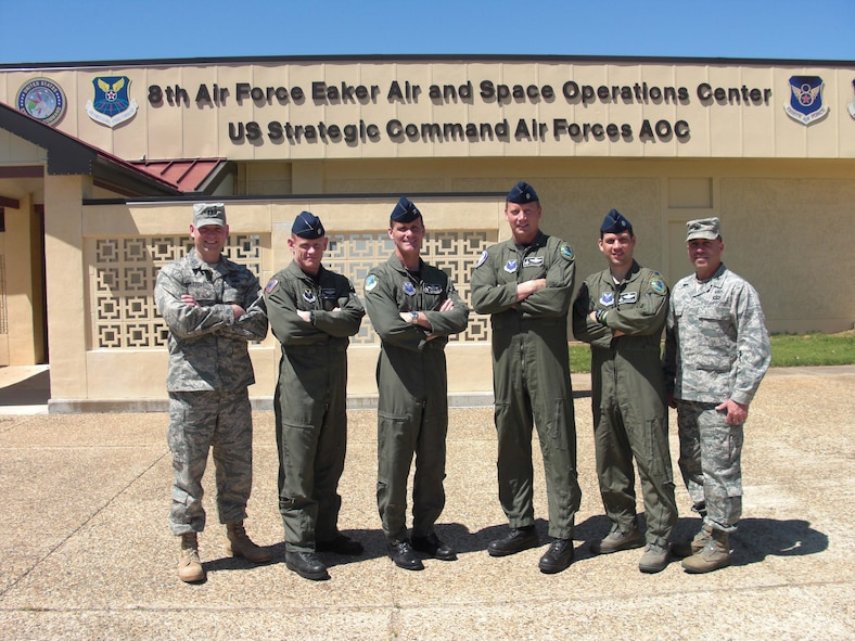 Pictured left to right: Capt Chris Leighton, Lt Col Gary 'Lips' Cundiff, Col Tim 'Heater' Estep, Lt Col Vaughn 'LJ' Littlejohn, Lt Col Marty 'Opus' Richard, Col Frank 'Rudy' Aflague