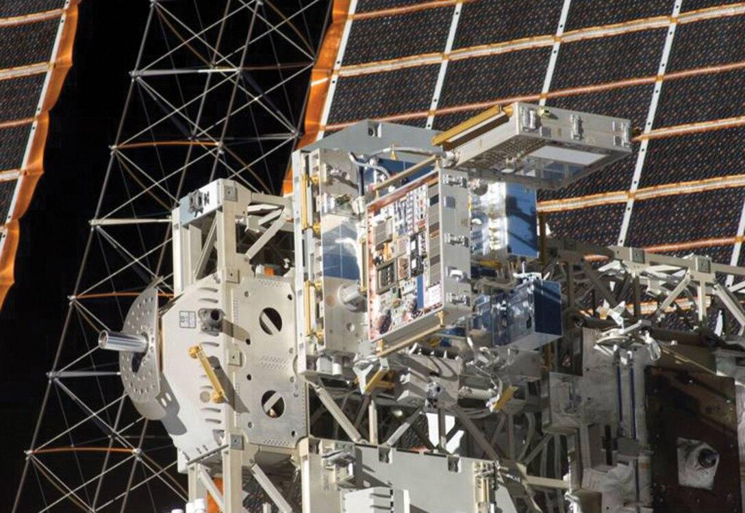 MISSE 7 on orbit after astronaut deployment. (MISSE image)
