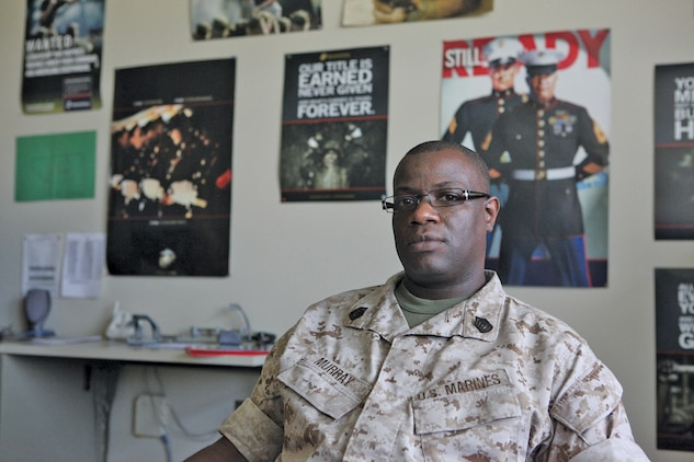 Gunnery Sgt. Orion Murry, of Headquarters and Headquarters Squadron, is among one of many career planners assigned to the units aboard the Air Station who's priority is raising Marines awareness of the different opportunities available to them. Career planners are vital to the Corps and its retention of quality Marines as well as playing a large role in service members career progression.
