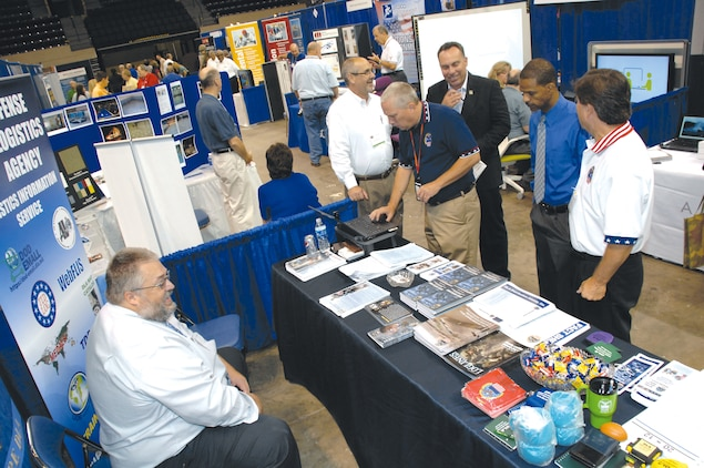 Marine Corps Logistics Command hosts its second Small Business Trade Show at the James H. Gray Sr. Civic Center in Albany, Aug. 4 and Friday. More than 100 vendors showcased their technological innovations during the two-day event.