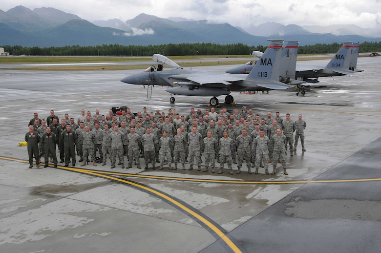 The 104th Fighter Wing, Massachusetts Air National Guard, deployed 131 Airmen to Joint Base Elmendorf-Richardson, Alaska in support of a joint training mission.  (U.S.A.F. photograph by Technical Sergeant, Anthony M. Mutti)
