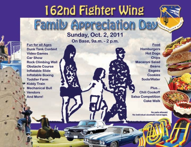 162nd Fighter Wing Family Appreciation Day, Oct. 2, 2011. (U.S. Air Force graphic)