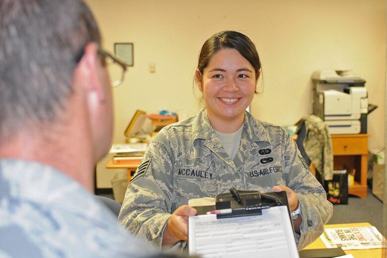 Staff Sgt. Jaime McCauley, 162nd Fighter Wing, Tucson, Ariz. (U.S. Air Force photo/Staff Sgt. Jordan Jones)
