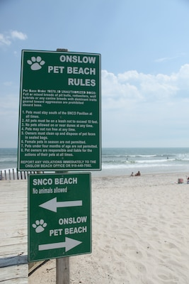Onslow Beach Welcomes Families Furry Friends Marine