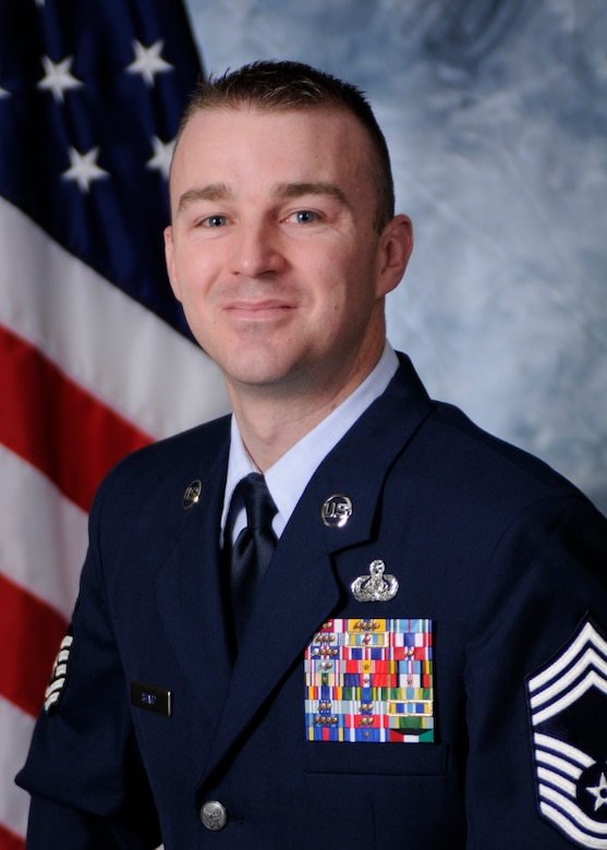 Chief Master Sgt. Gary Sharp, 50th Mission Support Group superintendent