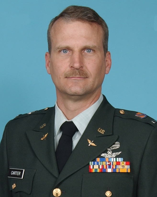 Colorado Army National Guard Chief Warrant Officer 4 David R. Carter was killed in action in Afghanistan Aug. 6. Planeside honors are scheduled to take place at Buckley Air Force Base in Aurora, Colo., Aug. 17, at approximately 1:10 p.m. (Colorado National Guard archives)