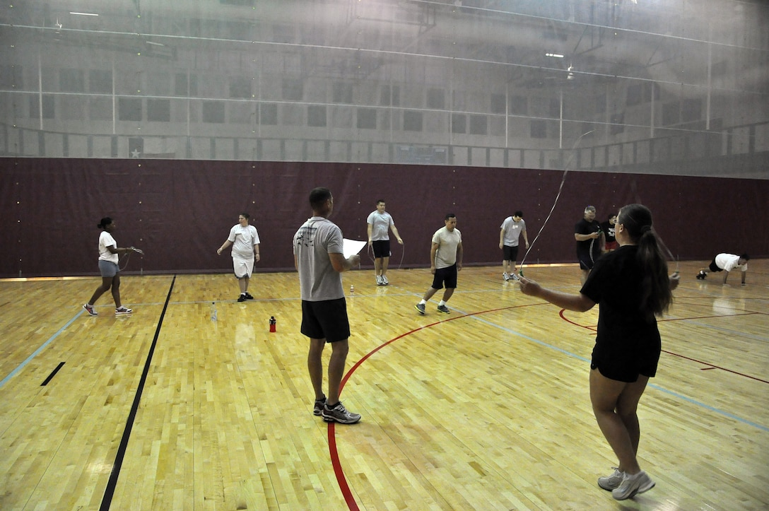 LAUGHLIN AIR FORCE BASE, Texas – Laughlin Airmen participate in a new physical conditioning program here Aug. 11 called XLers Fighting to be Fit. The program is run by senior NCOs and was designed to improve physical training test scores while building a healthy force enabling Airmen to meet the wing's mission statement of deploying mission-ready Airmen. (U.S. Air Force photo by Senior Airman Scott Saldukas)