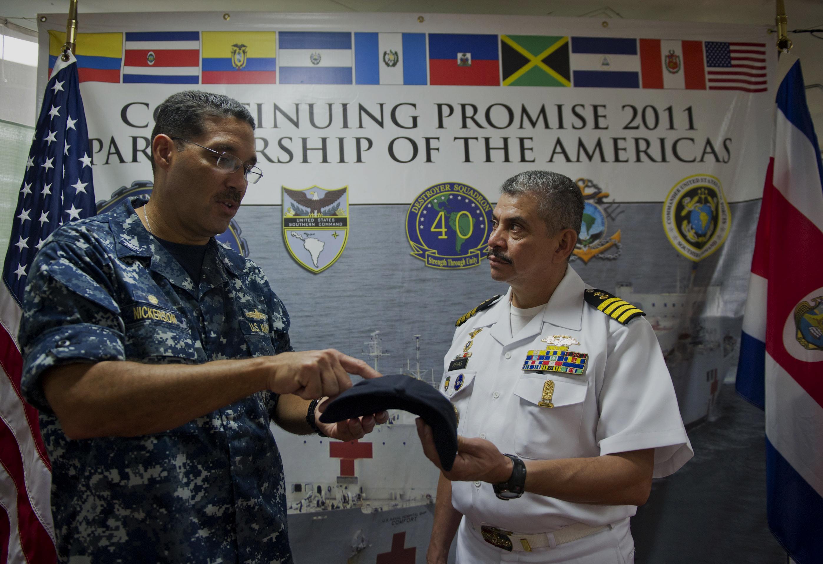 U S  Navy Commodore Brian Nickerson, mission commander for