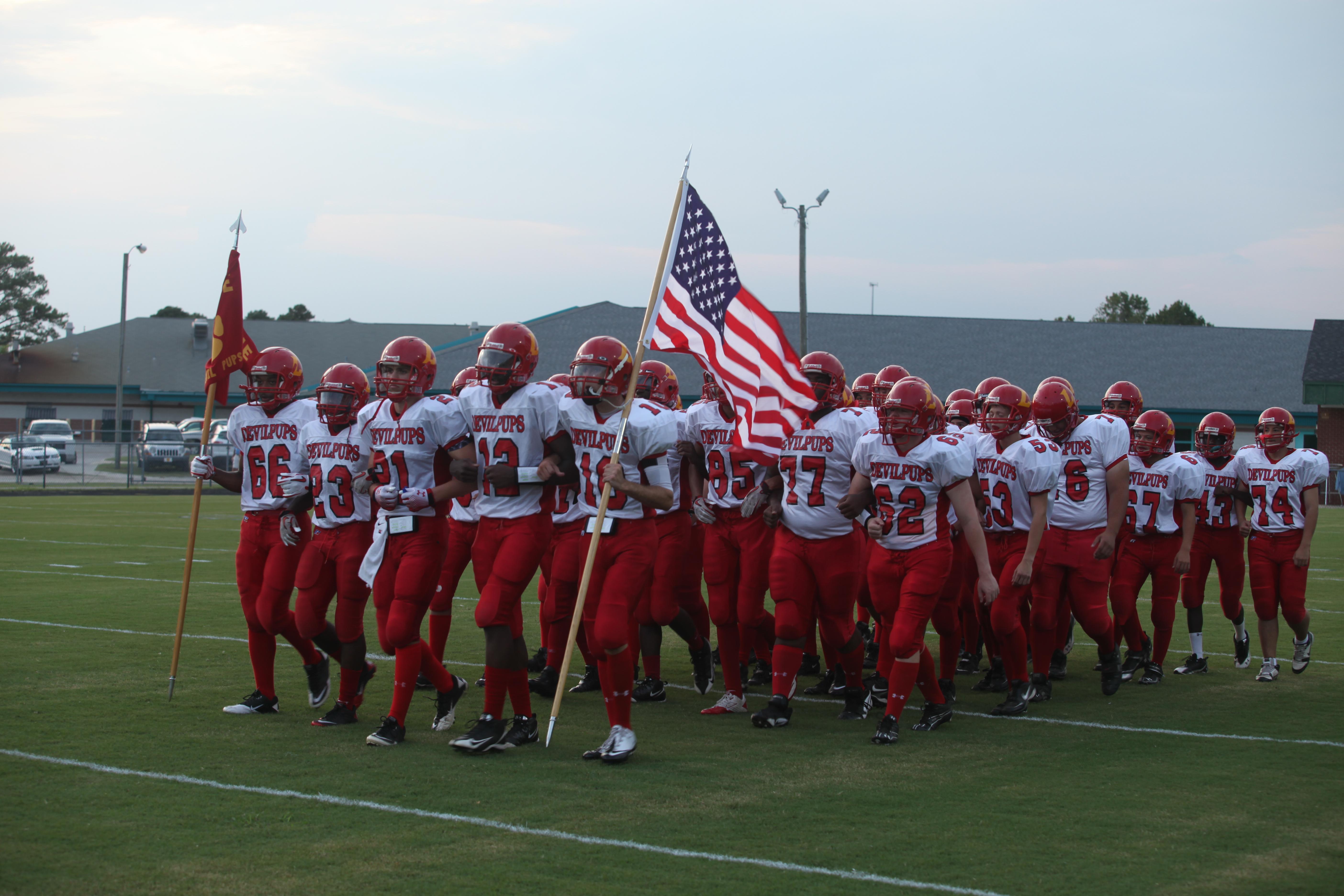 Lejeune High School Devil Pups football team sets high ...