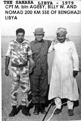 Billy Waugh with Libyans he worked with while training Libyan special forces members. He was a CIA operative at the time, reporting on Libyan activities and the countries's relationship with the Soviet Union. (Courtesy photo)