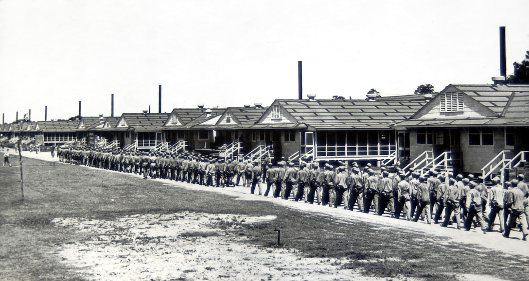 Mess Hall Row, 1943.  (Photo courtesy of 81st Training Wing History Office)