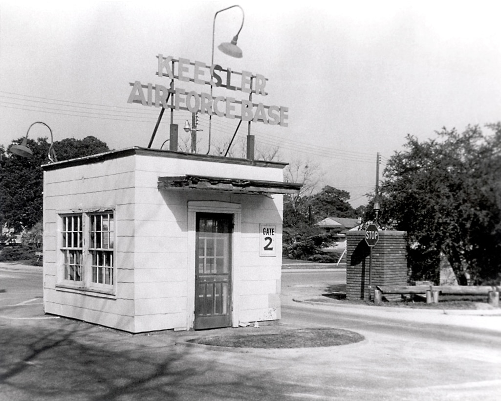 Old Gate 2, 1940s.  (Photo courtesy of 81st Training Wing History Office)