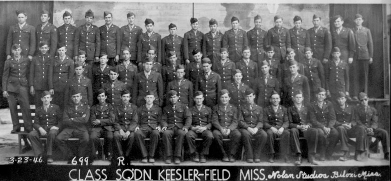46th Squadron class photo, 1946.  (Photo courtesy of 81st Training Wing History Office)
