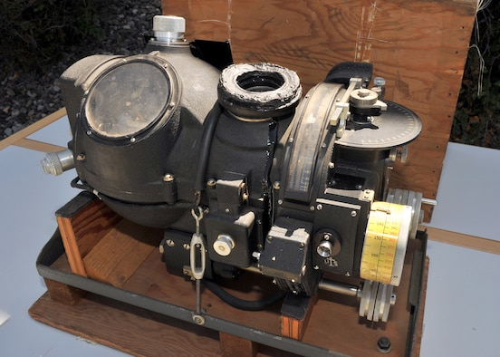 The Norden Bombsight sits on display outside of the Malmstrom Museum during the donation ceremony Aug. 19.