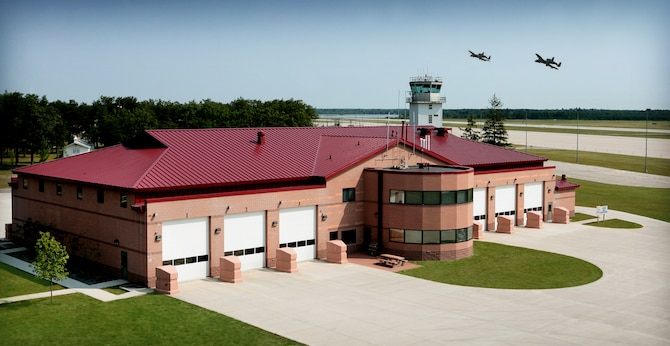 The Alpena CRTC Fire Station features over 22,000 square feet and six drive-through vehicle bays.