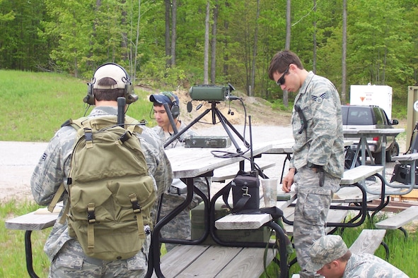 Joint Terminal Attack Controllers engage in training exercises at Grayling Air Gunnery Range.