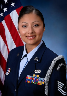 Technical Sergeant Angela Jenkins, official portrait, OAY Honor Guard Manager of the Air National Guard for 2011.