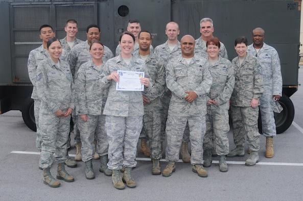 Staff Sgt. Kristina Robinson, 36th Maintenance Group resource advisor, was awarded Team Andersen's Best here, Aug. 25. (U.S. Air Force photo/ Senior Airman Carlin Leslie)