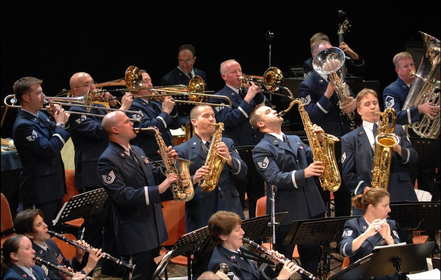 SPANGDAHLEM AIR BASE, Germany — The 47th U.S. Air Forces in Europe Band holiday concert in Bitburg takes place 8 p.m. Dec. 10 at the city's Stadthalle or city hall. Tickets are 11 Euros for adults and 7 Euros for students and can be purchased now from the Bitburg Cultural Society at 06561-6001-220 or via http://www.ticket-regional.de. All proceeds from the concert pay for the cost of the concert hall, and excess funds are donated to a local charity. (Courtesy photo)