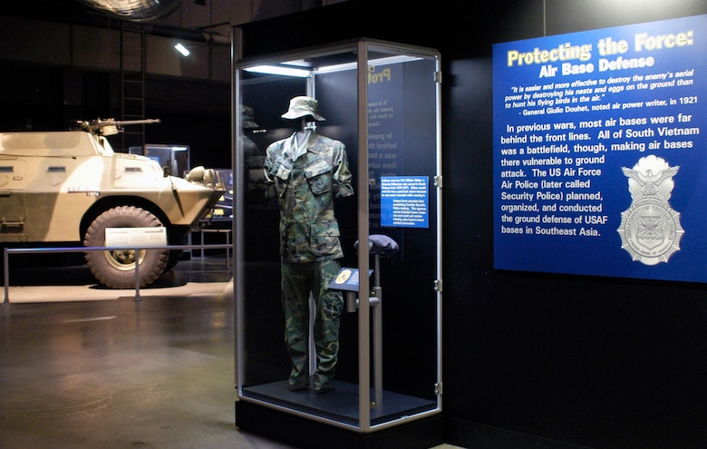 "DAYTON, Ohio -- ""Protecting the Force: Air Base Defense"" exhibit in the Southeast Asia War Gallery at the National Museum of the U.S. Air Force. (U.S. Air Force photo)"